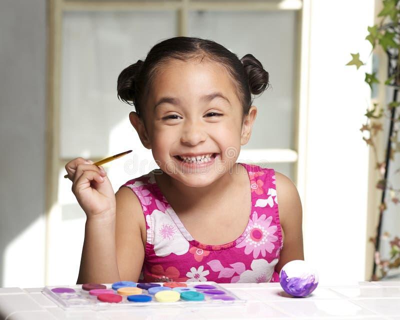 Pintura feliz de Easter imagem de stock