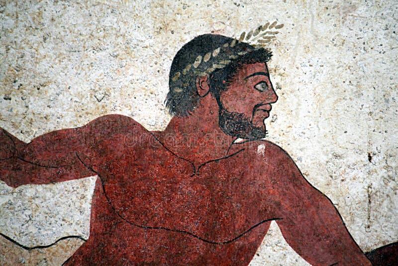 Pintura grega do retrato foto de stock royalty free