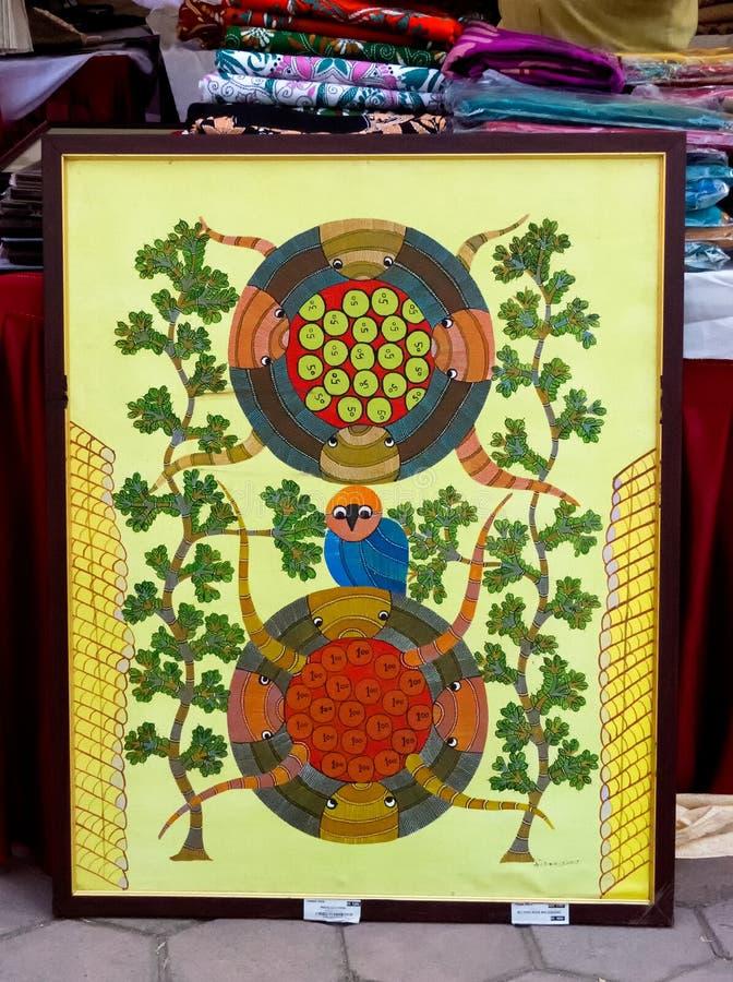Pintura hecha a mano hermosa del bordado fotografía de archivo
