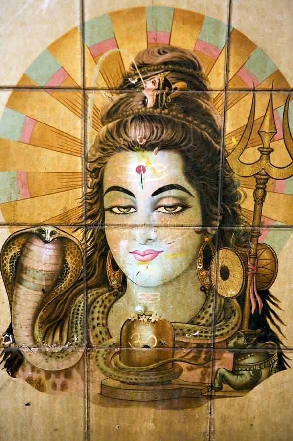 Pintura Hindu em Kathmandu fotos de stock royalty free