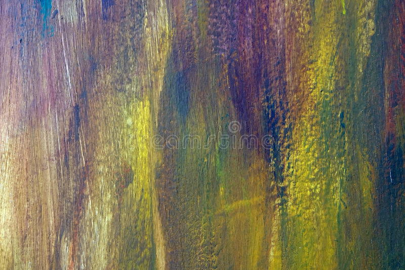 Pintura inacabada en el tablero de madera imágenes de archivo libres de regalías