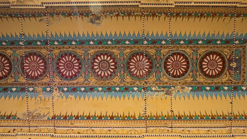Pintura india elaborada del techo fotografía de archivo libre de regalías