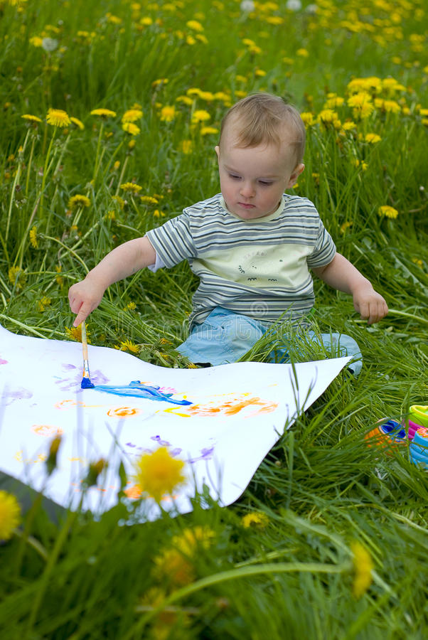 Pintura infantil imagens de stock royalty free