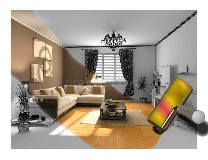 A pintura interior ilustração stock