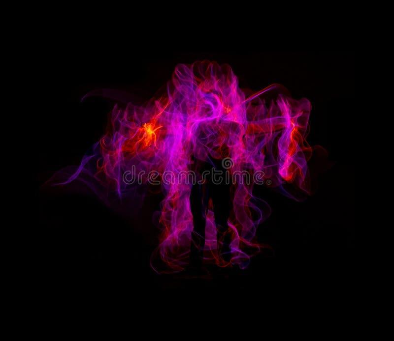 Pintura ligera - ángel rosado imagenes de archivo