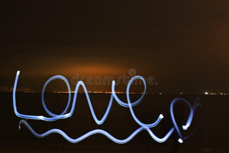 Pintura ligera del amor fotos de archivo
