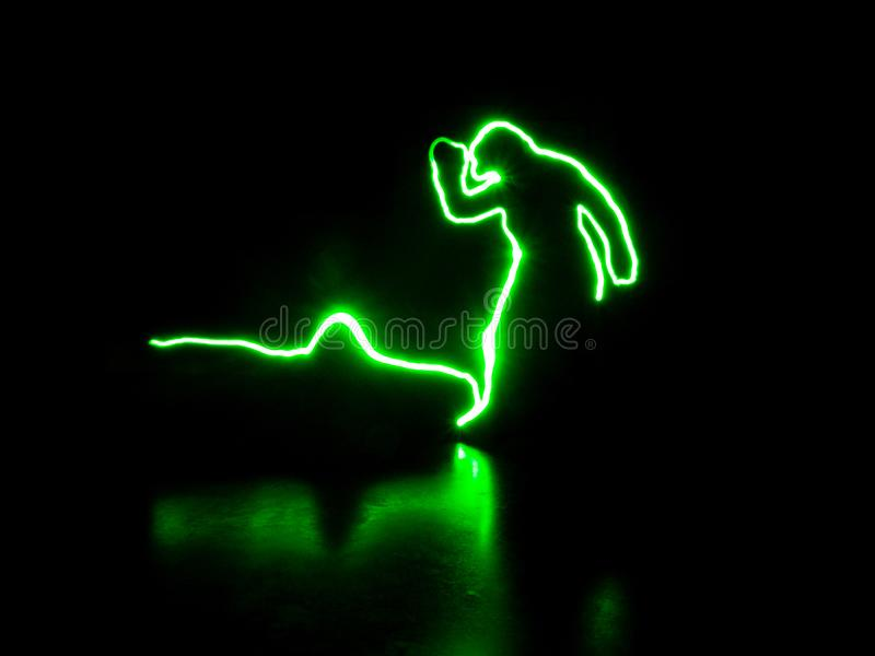 Pintura ligera - el hombre verde foto de archivo libre de regalías