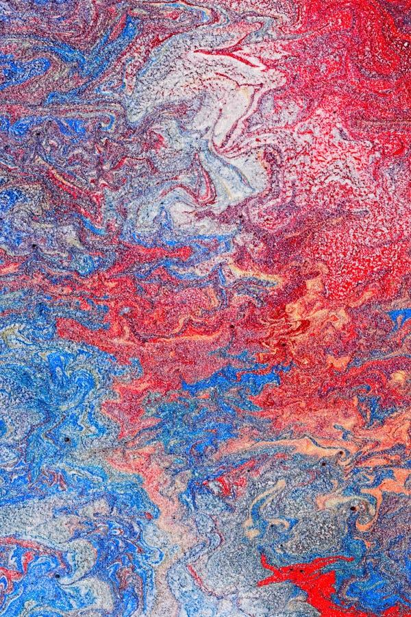 Pintura metálica abstrata imagens de stock