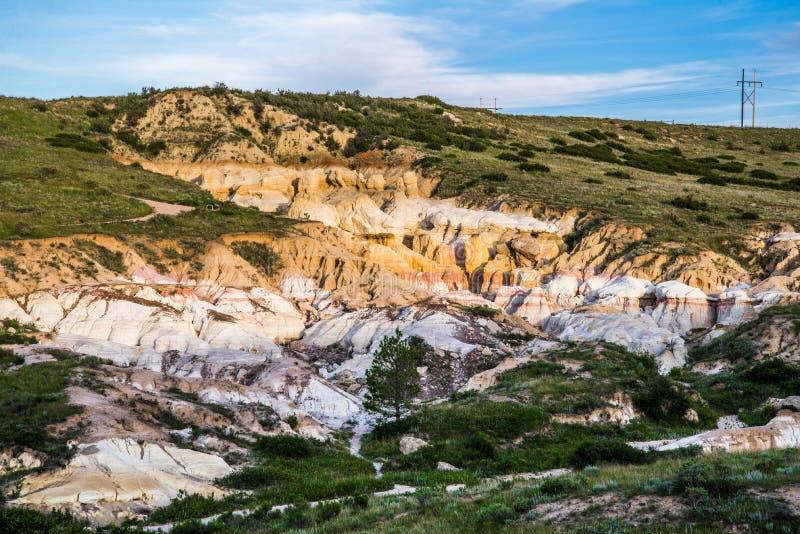 A pintura mina o parque interpretativo Colorado Springs Calhan fotografia de stock royalty free