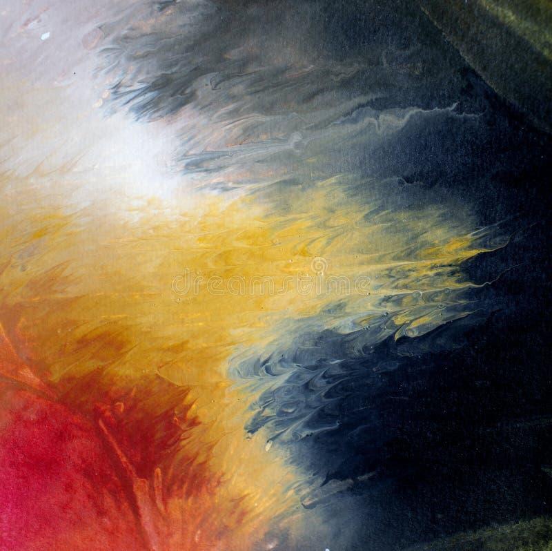 Pintura moderna de acrílico de la llamarada solar del aceite del arte contemporáneo del extracto fotografía de archivo libre de regalías