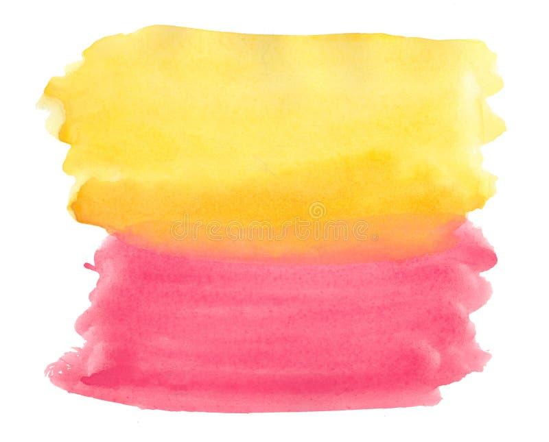 Pintura multicolora del chapoteo de la acuarela del aquarell de la textura del cepillo del fondo abstracto de la tinta en el fond libre illustration