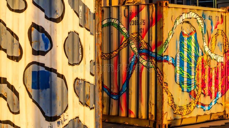 Pintura mural colorida foto de stock royalty free