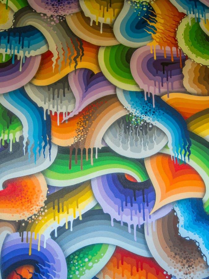 Pintura mural colorida foto de stock