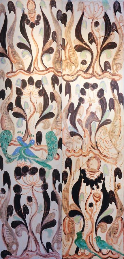 Pintura mural da gruta de Dunhuang imagem de stock royalty free