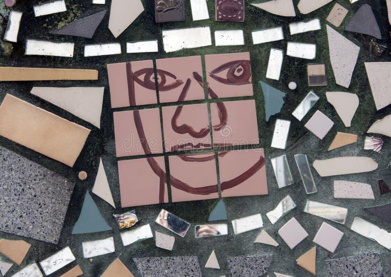Pintura mural do mosaico por Isaiah Zagar, Philadelphfia fotos de stock