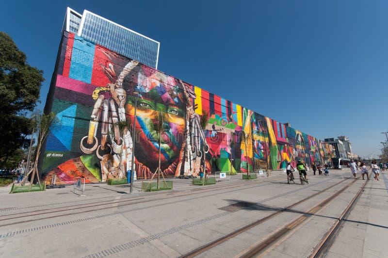 Pintura mural em Rio de janeiro imagem de stock royalty free
