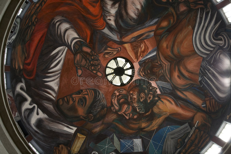 Pintura mural Guadalajara de Orozco fotografia de stock