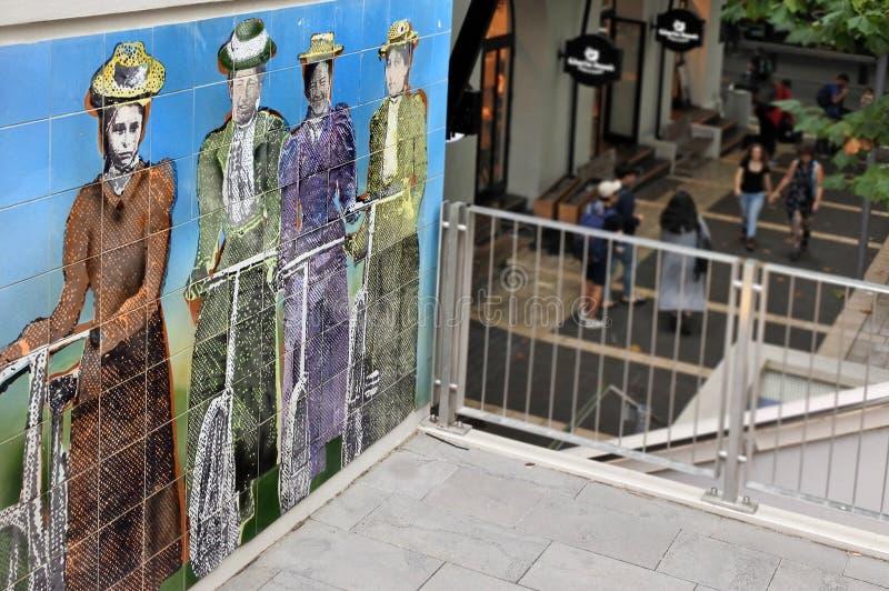 Pintura mural memorável do sufrágio no lugar Auckland de Khartoum imagem de stock royalty free