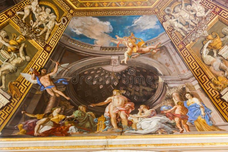 Pintura mural - museu do Vaticano imagens de stock