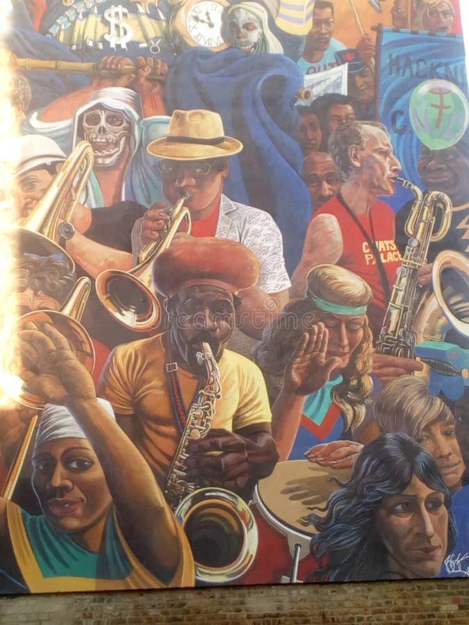 Pintura mural musical imagem de stock royalty free
