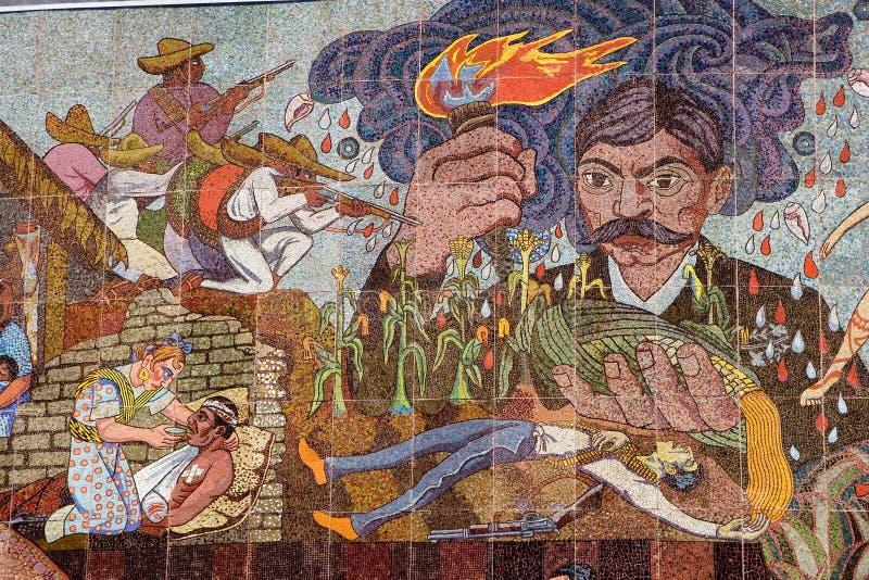 Pintura mural no teatro dos insurgentes fotografia de stock