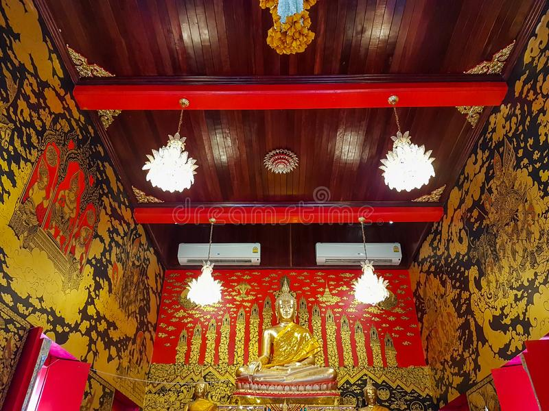 A pintura mural no templo foto de stock royalty free