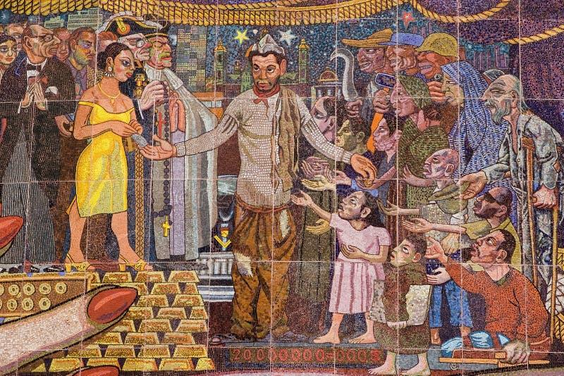 Pintura mural por Diego Rivera imagem de stock royalty free