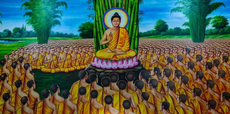Pintura mural tailandesa fotos de stock royalty free