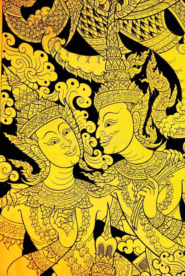 Pintura mural tailandesa da arte foto de stock royalty free