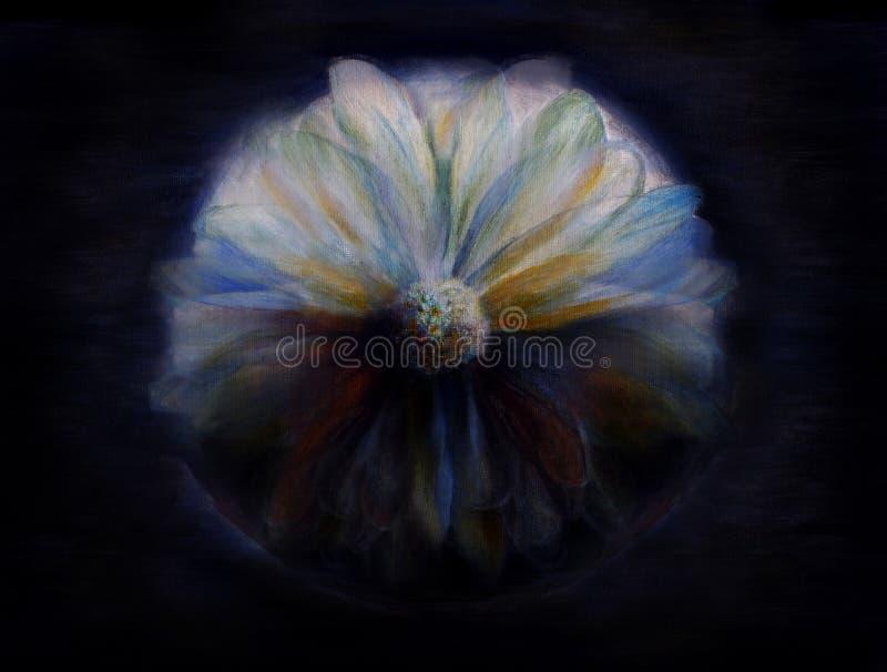 Pintura Mystical da flor ilustração do vetor