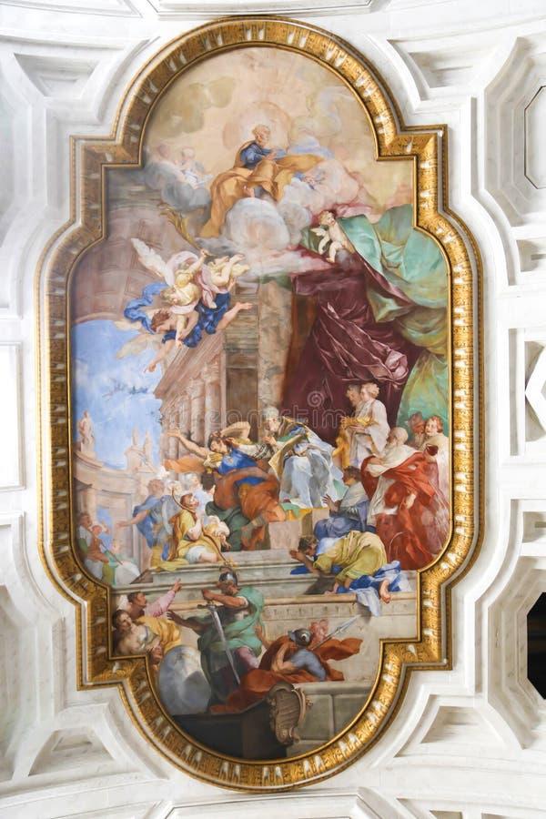 Pintura na basílica, Roma fotos de stock royalty free
