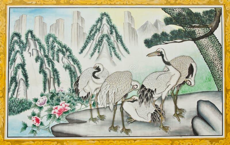 Pintura na igreja chinesa fotos de stock