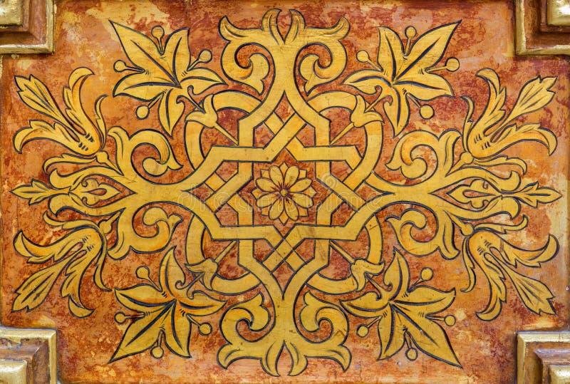 Pintura na placa de madeira - agrupamento floral fotos de stock royalty free
