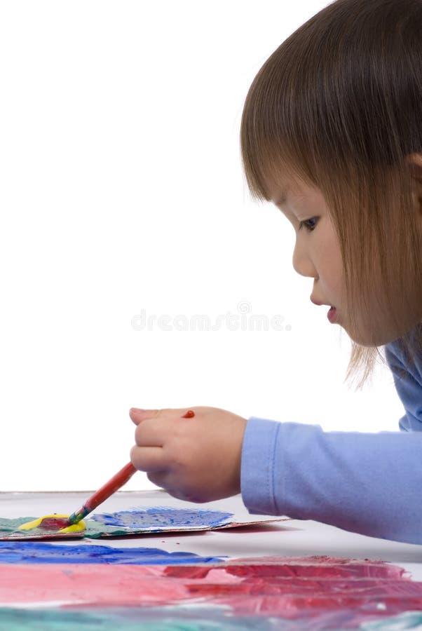 Pintura no assoalho 1 imagem de stock