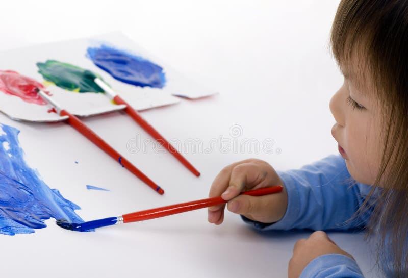 Pintura no assoalho 3 imagens de stock