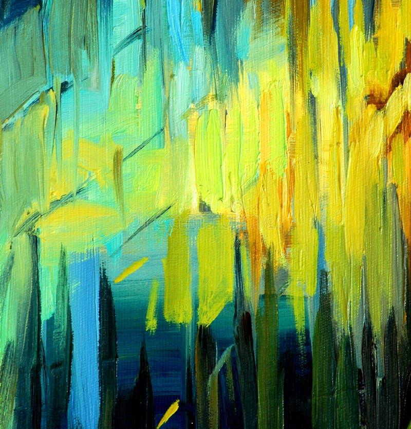 Pintura para un interior, ejemplo foto de archivo libre de regalías