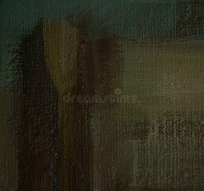 Pintura pelo óleo na lona, fundo ilustração stock