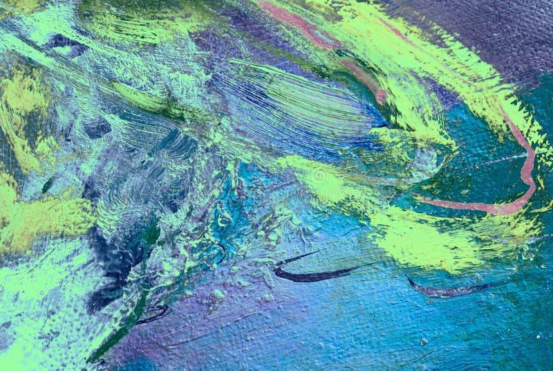 Pintura pelo óleo na lona, ilustração ilustração stock