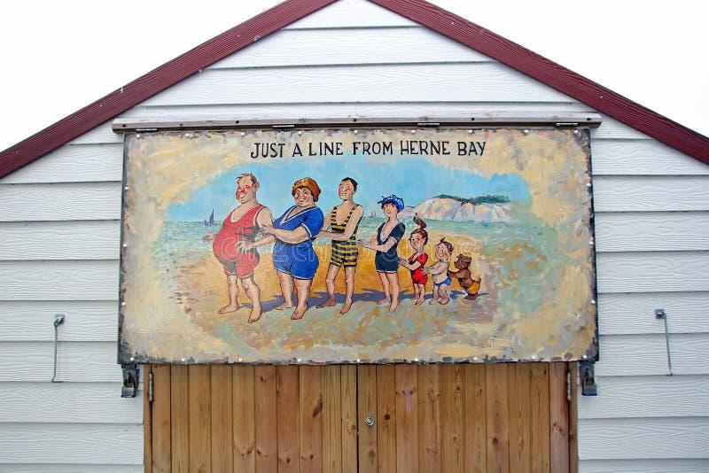 Pintura picante da cabana da praia do cartão fotografia de stock