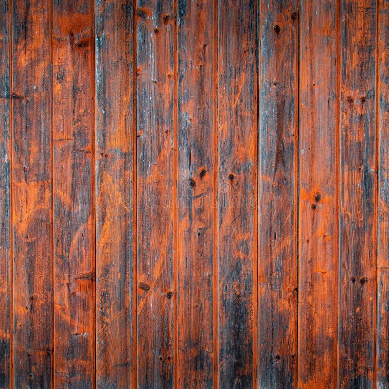 Pintura pintada de madeira velha da parede envelhecida do tempo Fundo de madeira com boa textura fotografia de stock royalty free