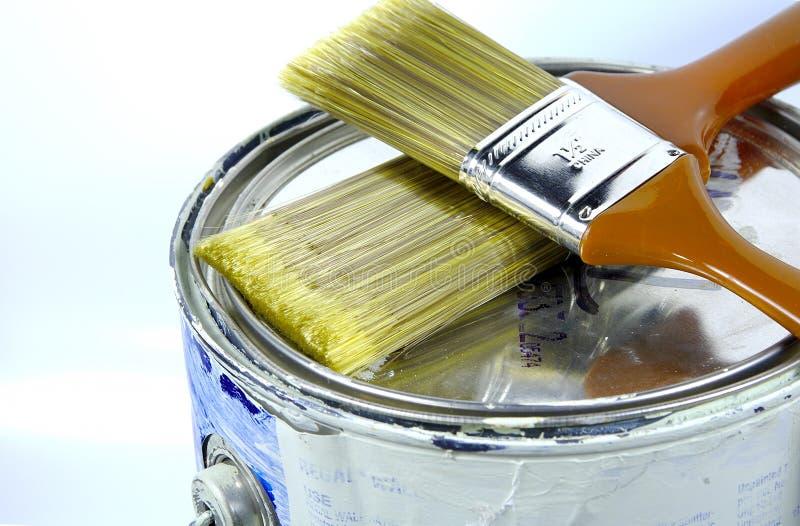 Download A pintura pode 2 foto de stock. Imagem de casa, pincéis - 62834