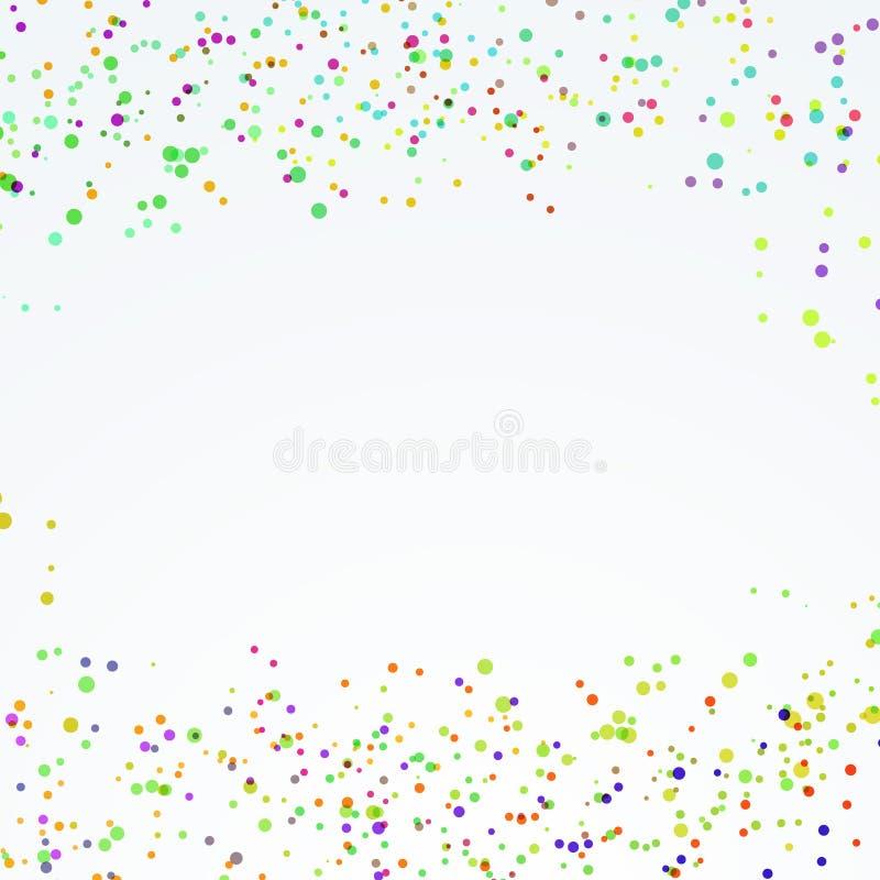 A pintura pontilhada festiva abstrata chapinha a disposição ilustração stock