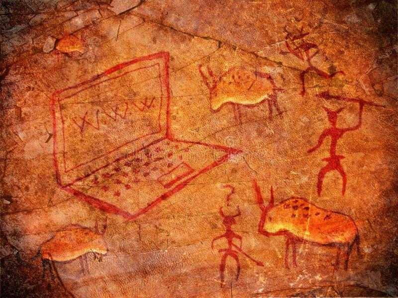 Pintura pré-histórica ilustração do vetor