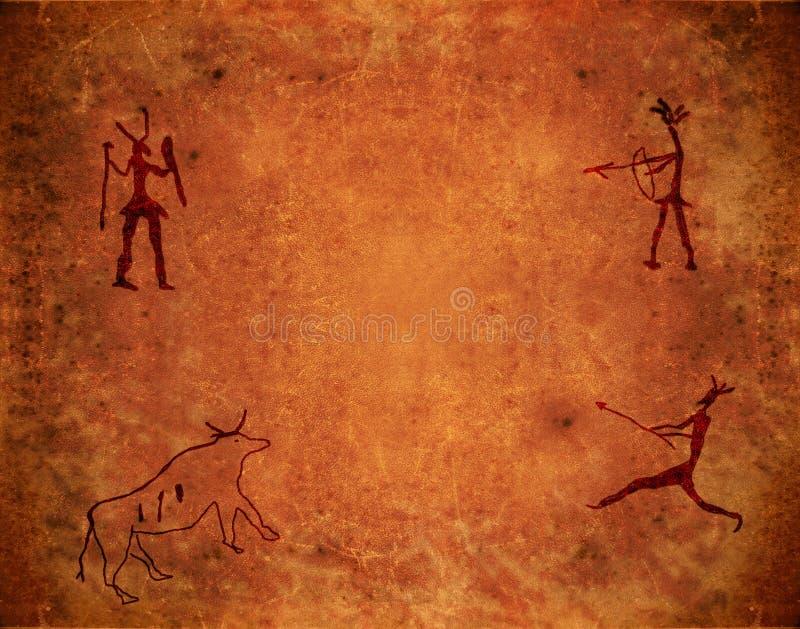 Pintura pré-histórica ilustração stock