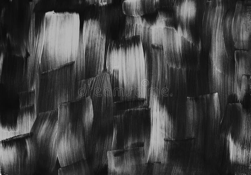 Pintura preto e branco da ilustração do projeto da arte da abstração da textura foto de stock