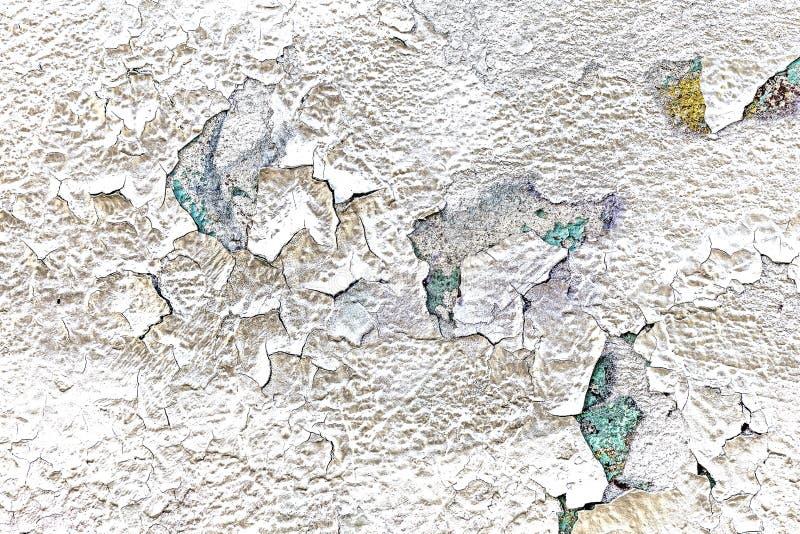 Pintura pulverizada prata 2 rachada e da casca foto de stock royalty free