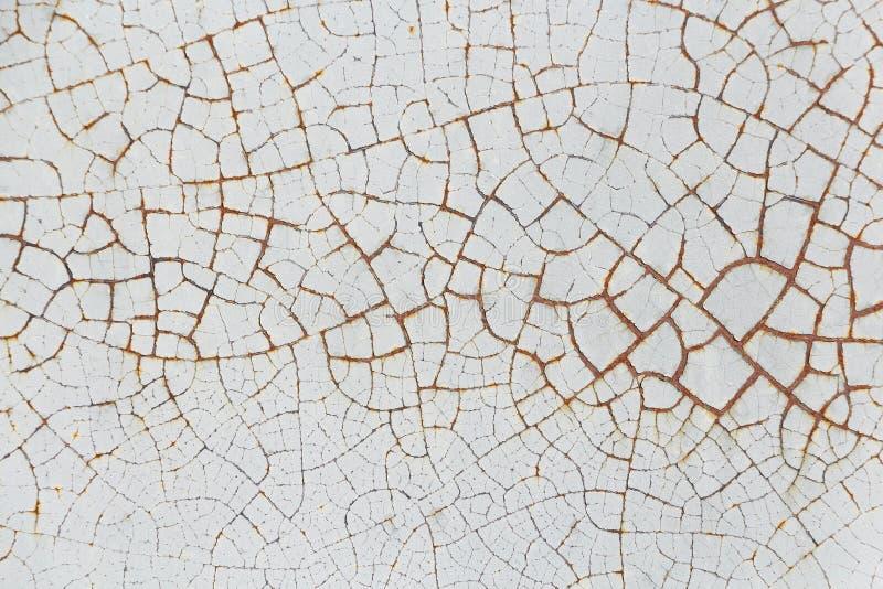 Pintura rachada velha na parede Vintage da textura imagem de stock