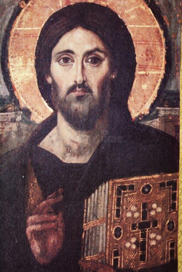 Pintura religiosa velha fotografia de stock
