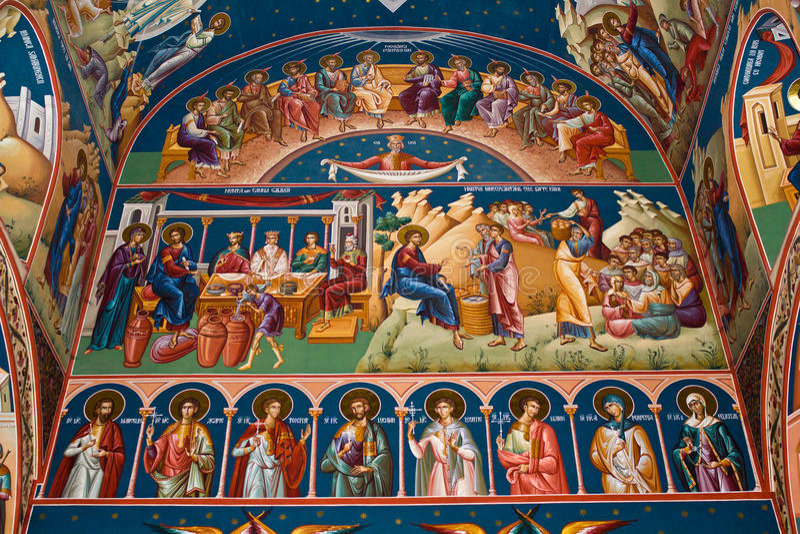 Pintura religiosa XI imagen de archivo