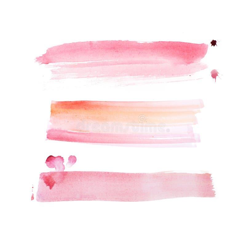 Pintura retra colorida de la mano del arte de la acuarela del watercolour del extracto del vintage en el fondo blanco foto de archivo libre de regalías